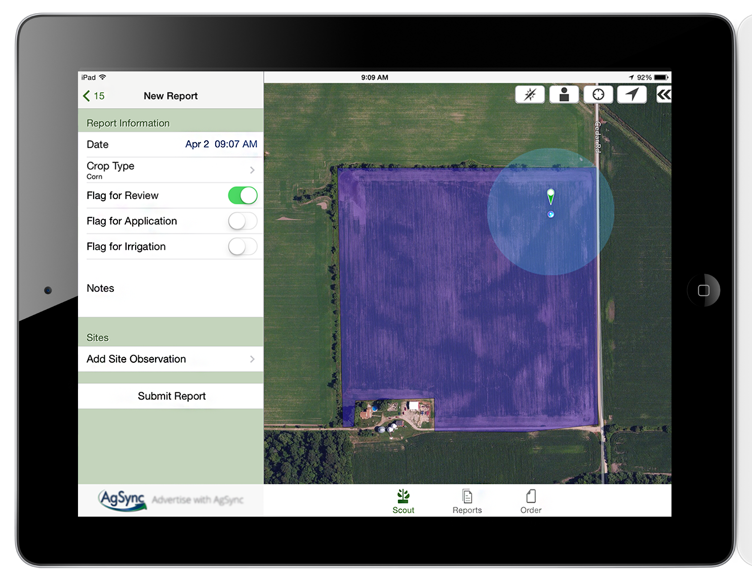 crop scouting app mobile device